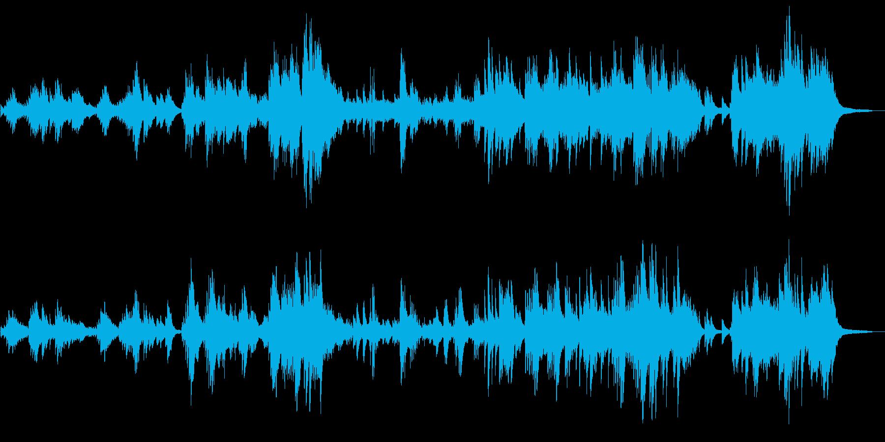 ノスタルジックで物哀しい ピアノソロの再生済みの波形