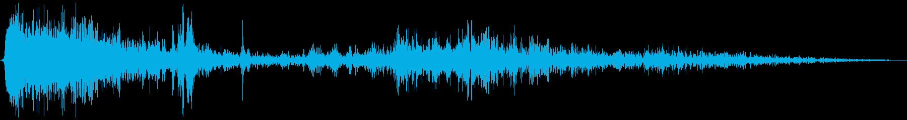 【銃声音006】ロケットランチャー発射音の再生済みの波形