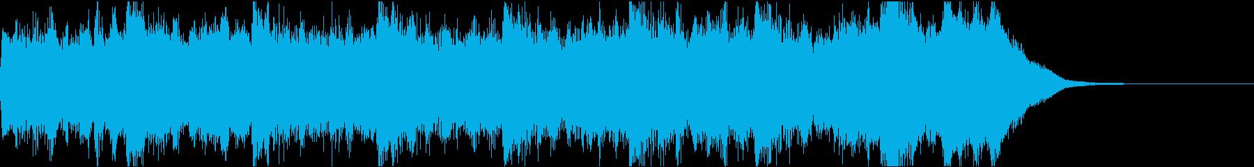 恐怖場面ベル&オーボエジングル(15秒)の再生済みの波形