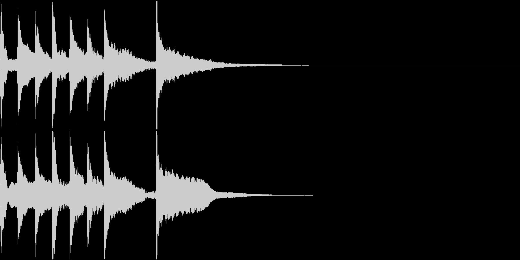 琴とビブラフォンを使った短いジングルの未再生の波形