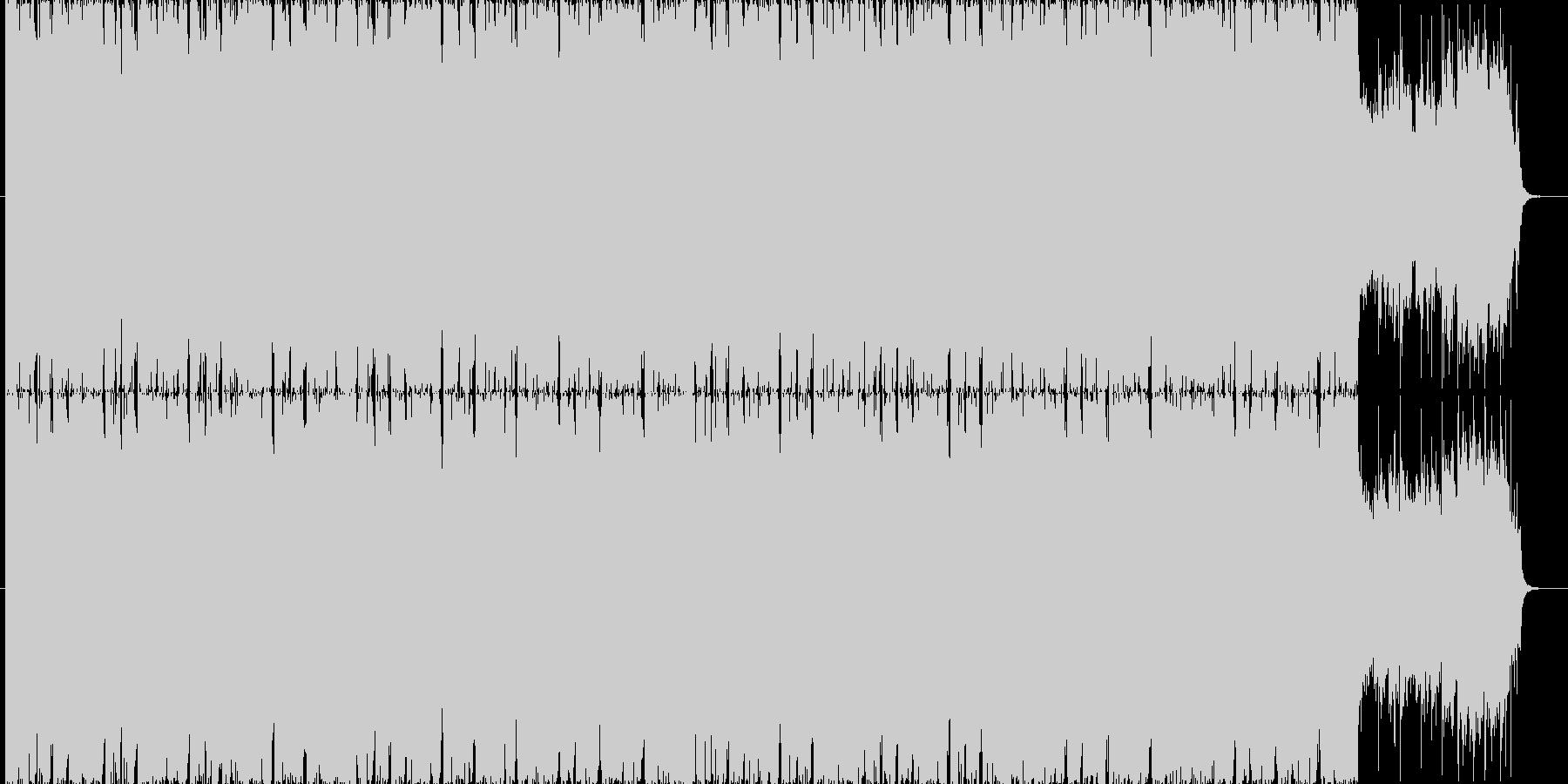 疾走感溢れるBGM(60ver)の未再生の波形