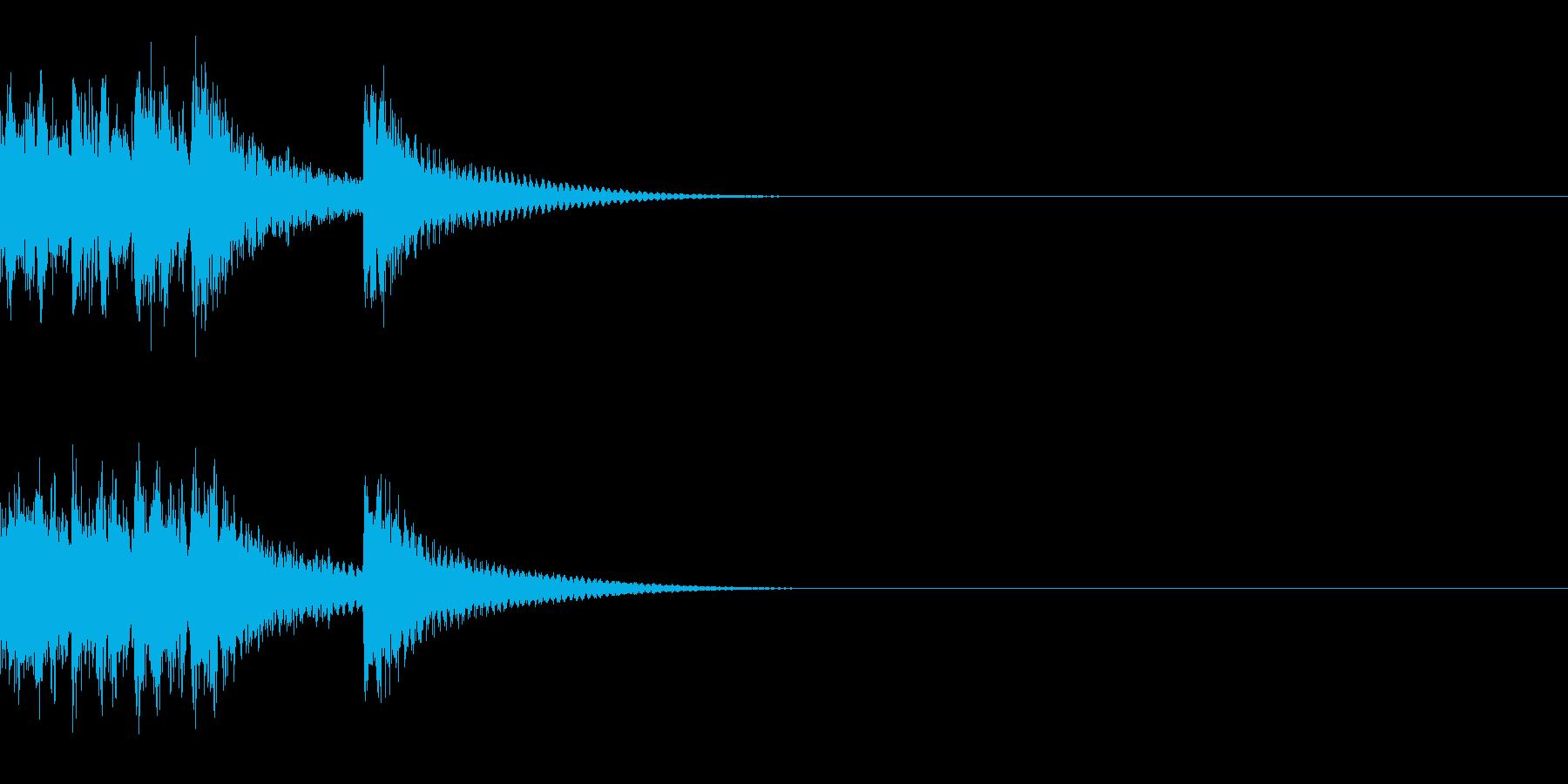 ベル アナウンス 時報 案内 お知らせCの再生済みの波形