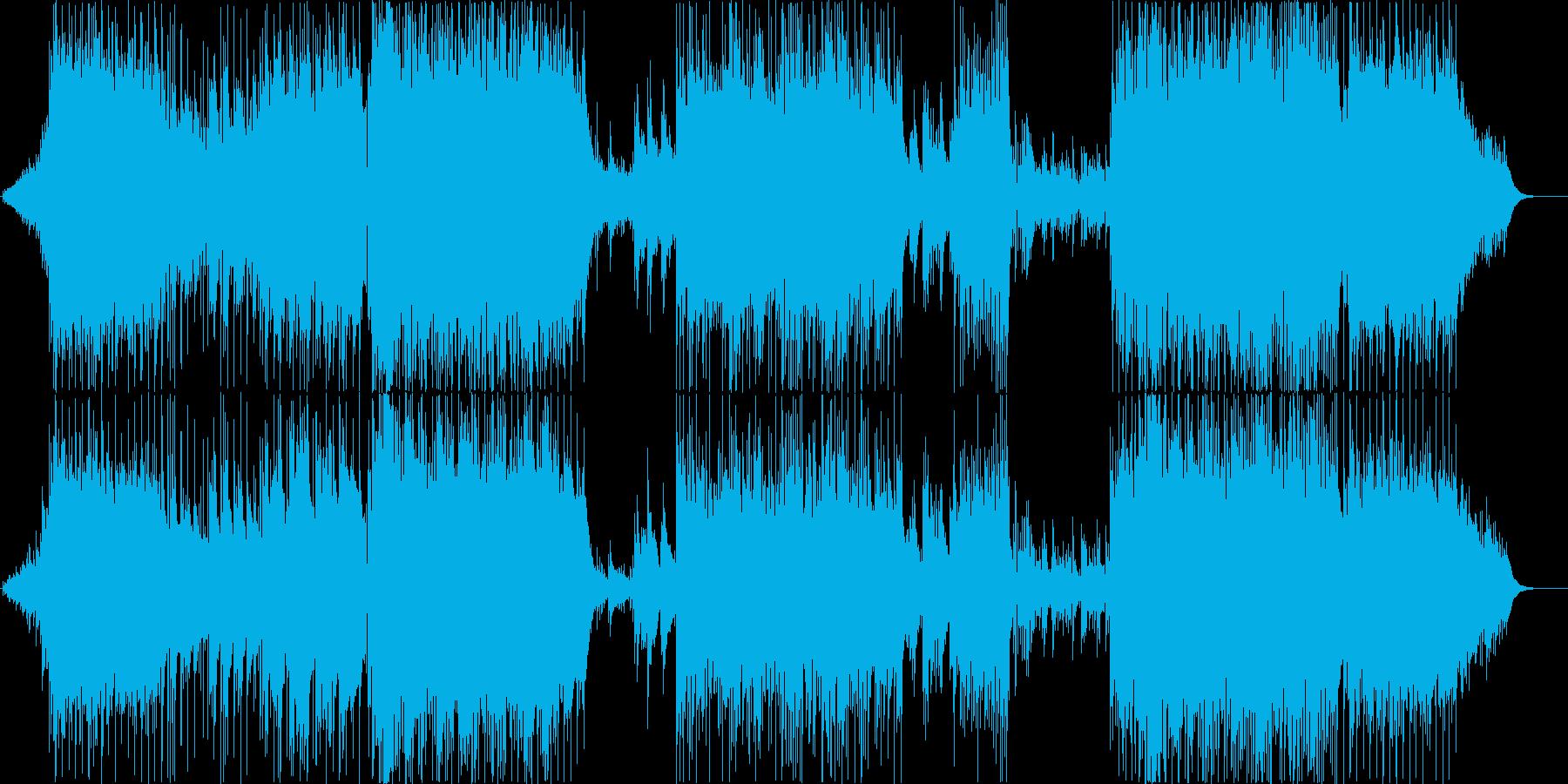 美しいアコースティックサウンドのインストの再生済みの波形