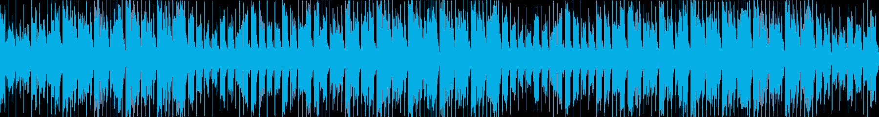 和風でかっこいいドシッと重厚感あるBGMの再生済みの波形