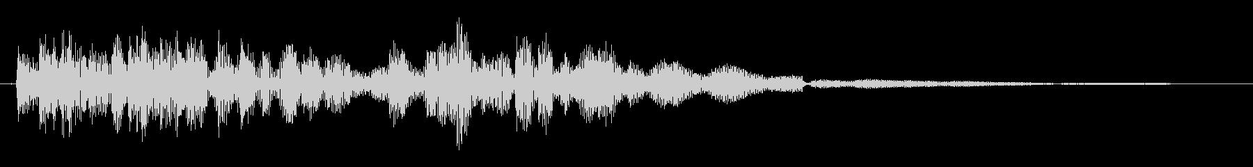 木琴を鳴らしている音の未再生の波形