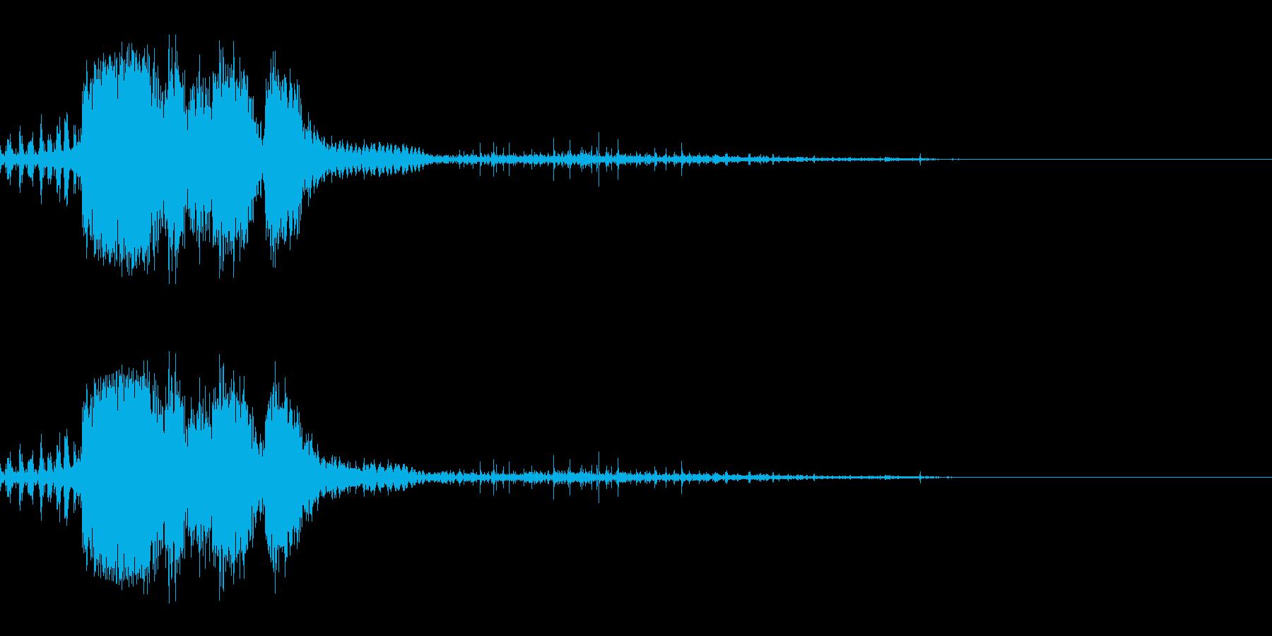スパーク音-37の再生済みの波形