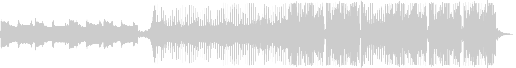 静かなイントロから始まる煌びやかなEDMの未再生の波形