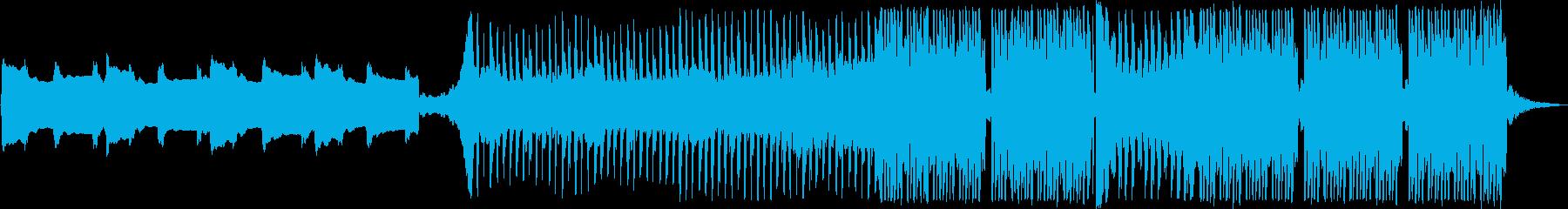 静かなイントロから始まる煌びやかなEDMの再生済みの波形