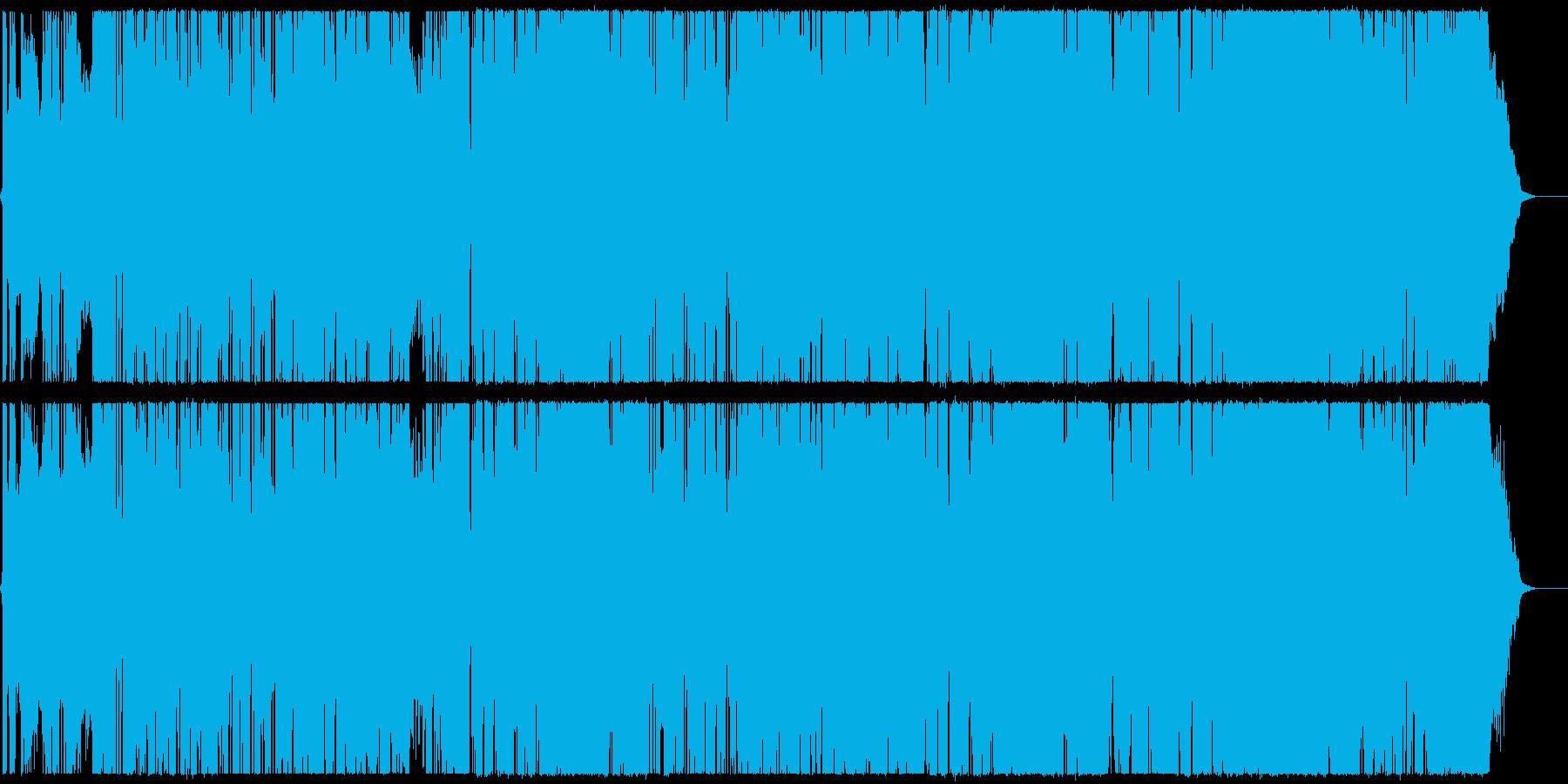 クールなエレクトロフュージョンの再生済みの波形