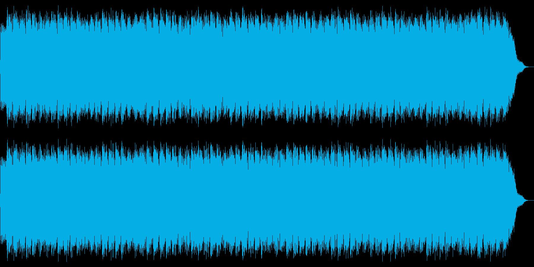 パンチの高速連打のイメージの再生済みの波形