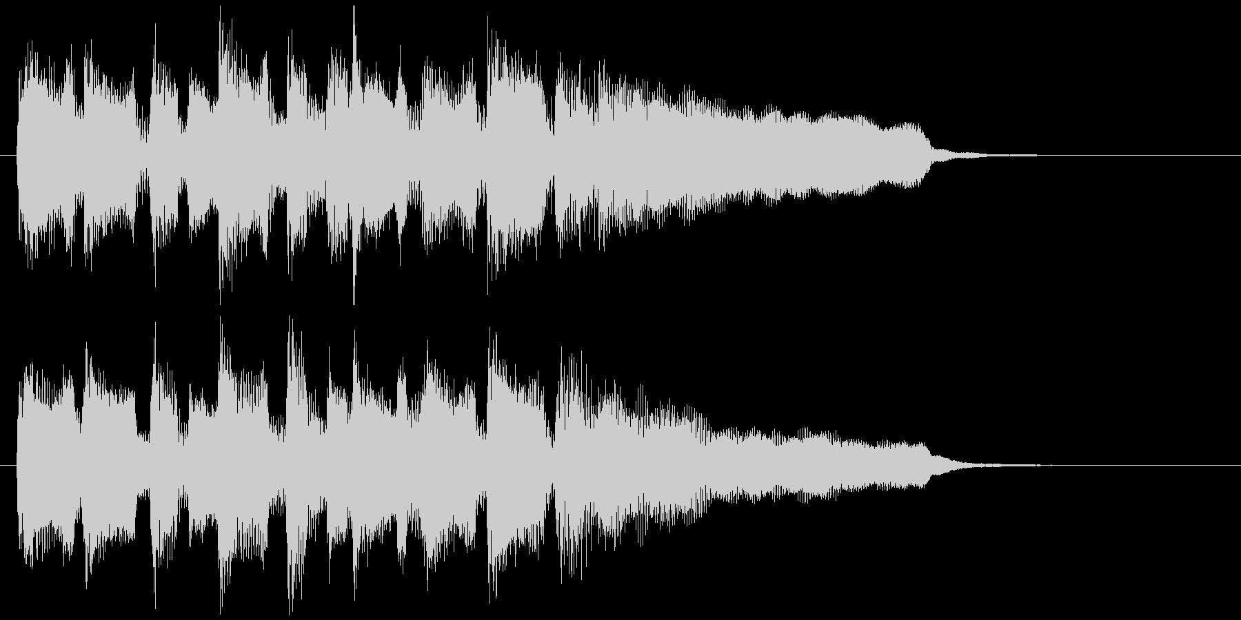 嬉しい、爽やかなリコーダーのサウンドロゴの未再生の波形