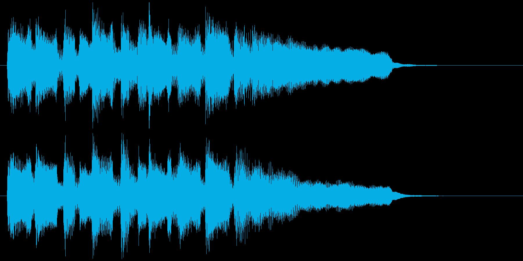 嬉しい、爽やかなリコーダーのサウンドロゴの再生済みの波形
