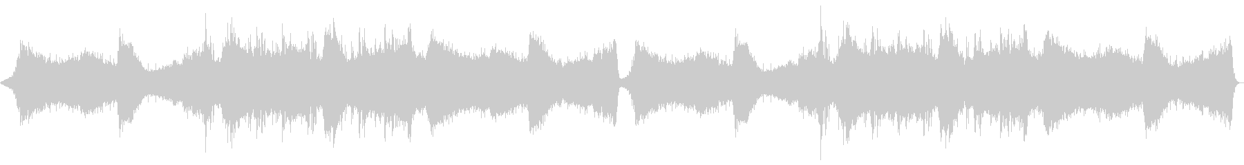 ホラー/アンビエント暗闇をイメージした曲の未再生の波形
