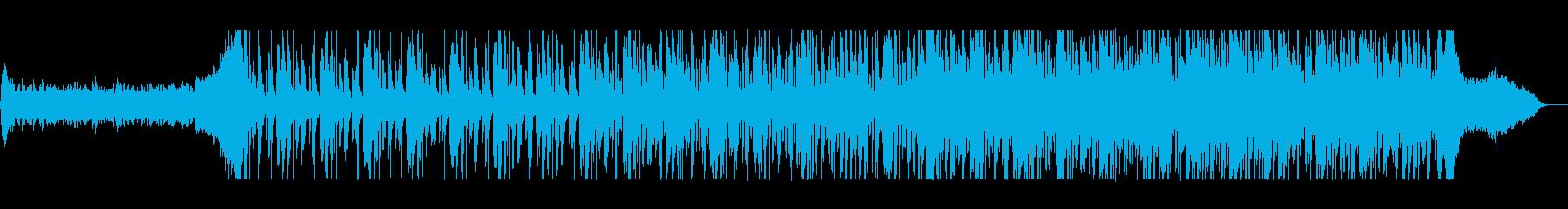 シリアスなバイオリン・ピアノなどのテクノの再生済みの波形