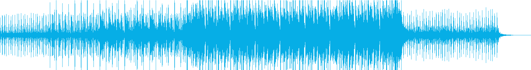 CM向けシンセのフレーズが繰り返される曲の再生済みの波形