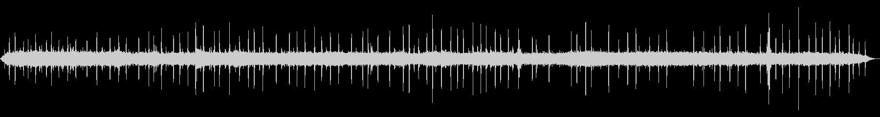 ショベルカーの音と鳥のさえずりの未再生の波形