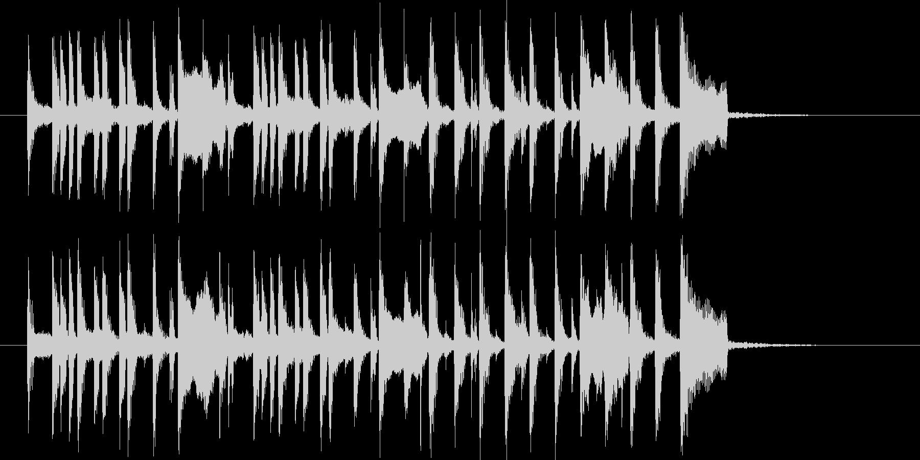 昭和のコント風BGMの未再生の波形