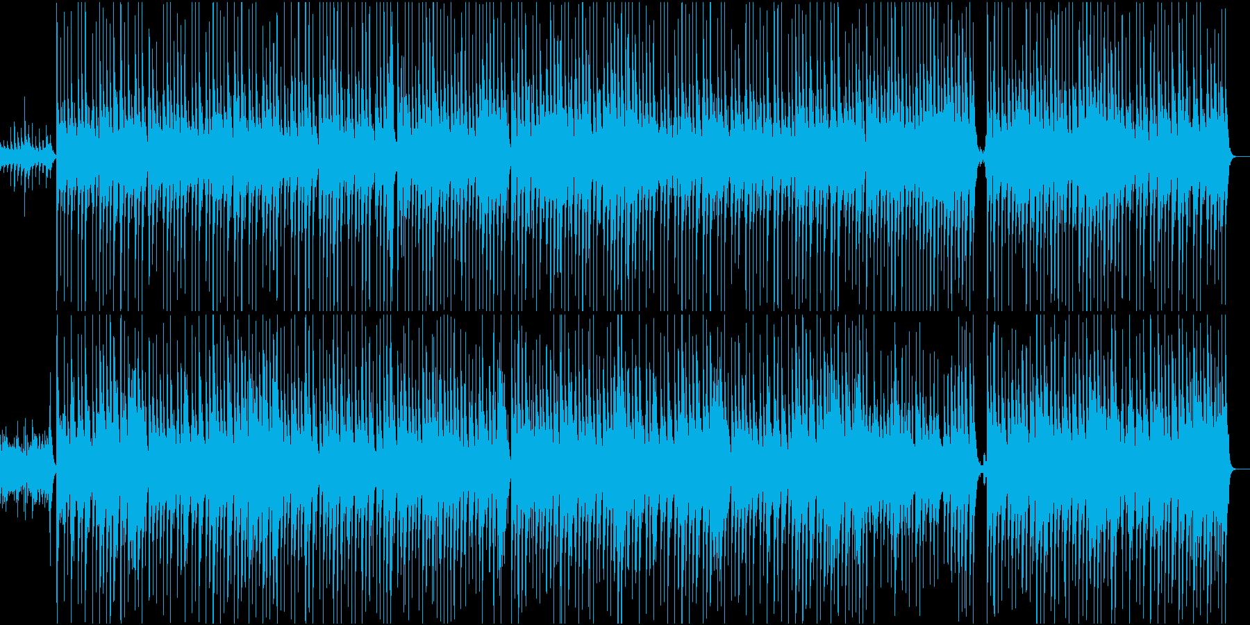 ゆったりしたハワイアンの再生済みの波形