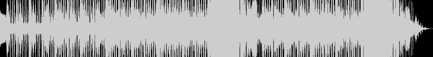約1分間、疾走するオルガンファンクの未再生の波形
