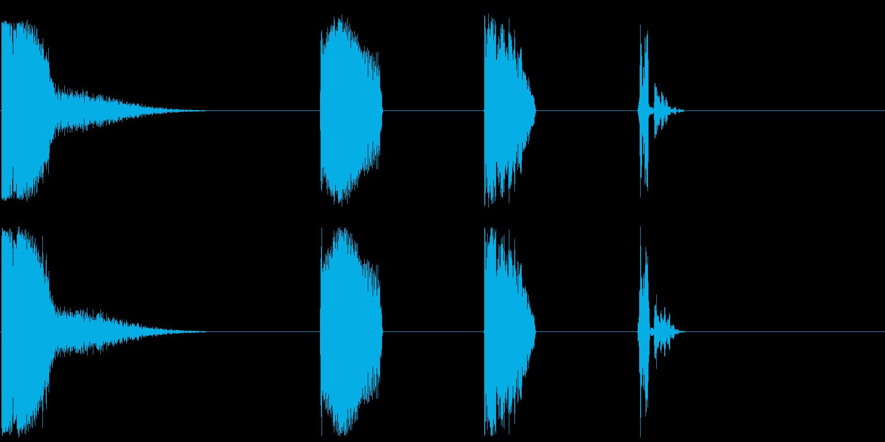 DJレーザーファイアーX4の再生済みの波形