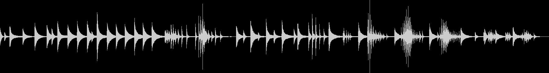 幻想的で儚いピアノバラード曲の未再生の波形