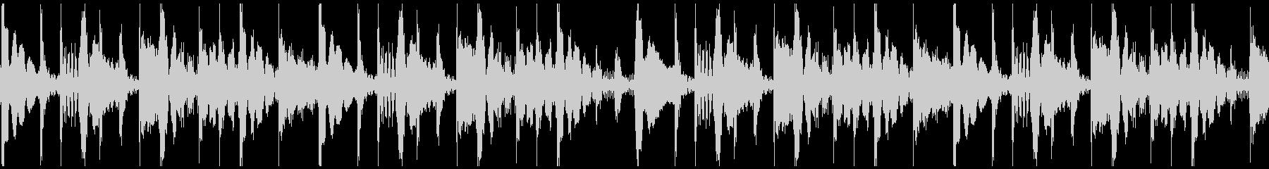 ハウスアフロ ループの未再生の波形