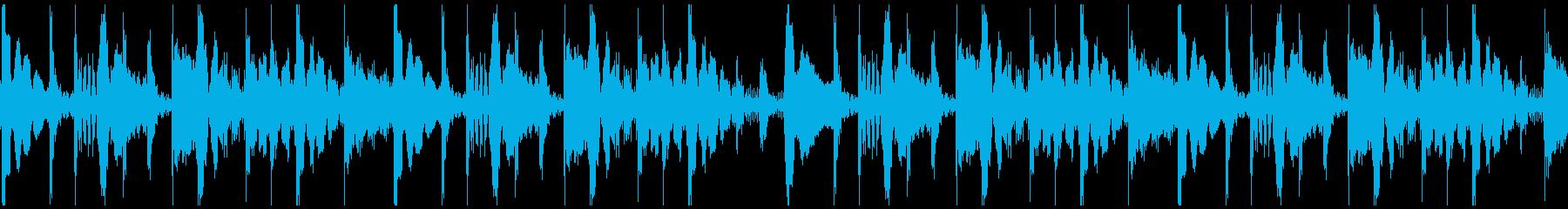 ハウスアフロ ループの再生済みの波形