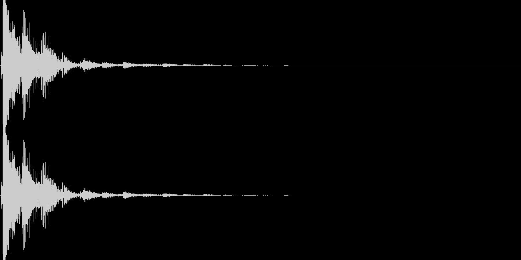 「選択」「決定」のイメージの未再生の波形