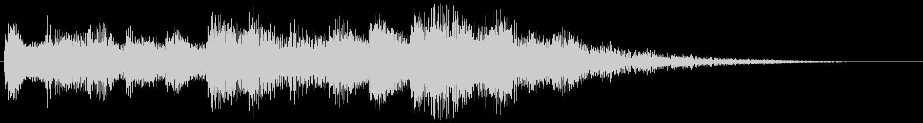 ハープとピアノの転回音 場面転換の未再生の波形