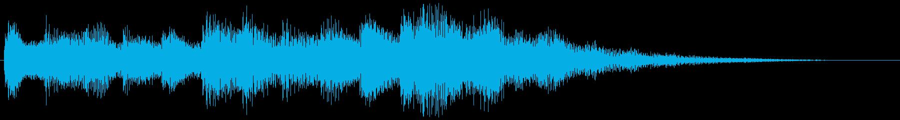 ハープとピアノの転回音 場面転換の再生済みの波形