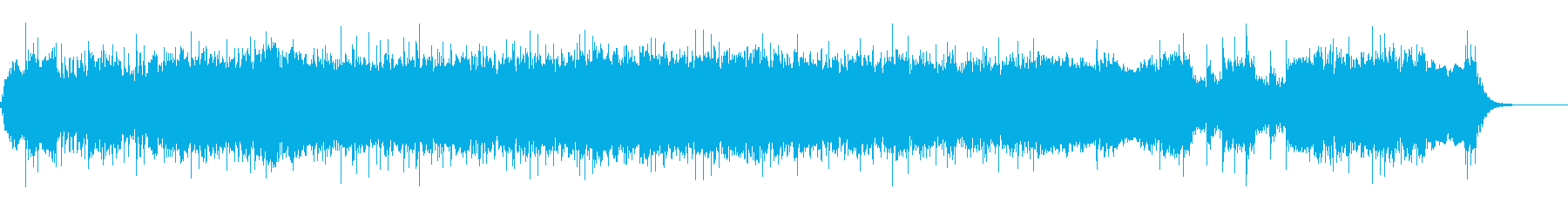 スピード感あるロックバンドな一曲の再生済みの波形