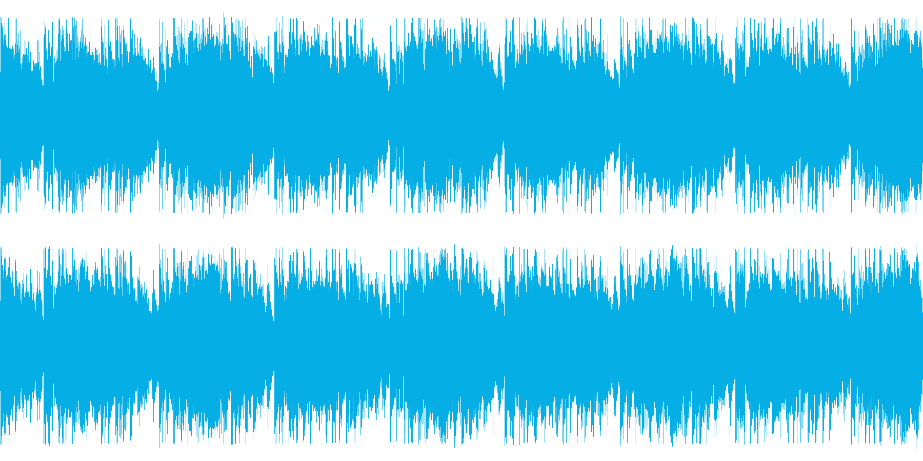 泡が弾けるようなHip-Hop/Loopの再生済みの波形