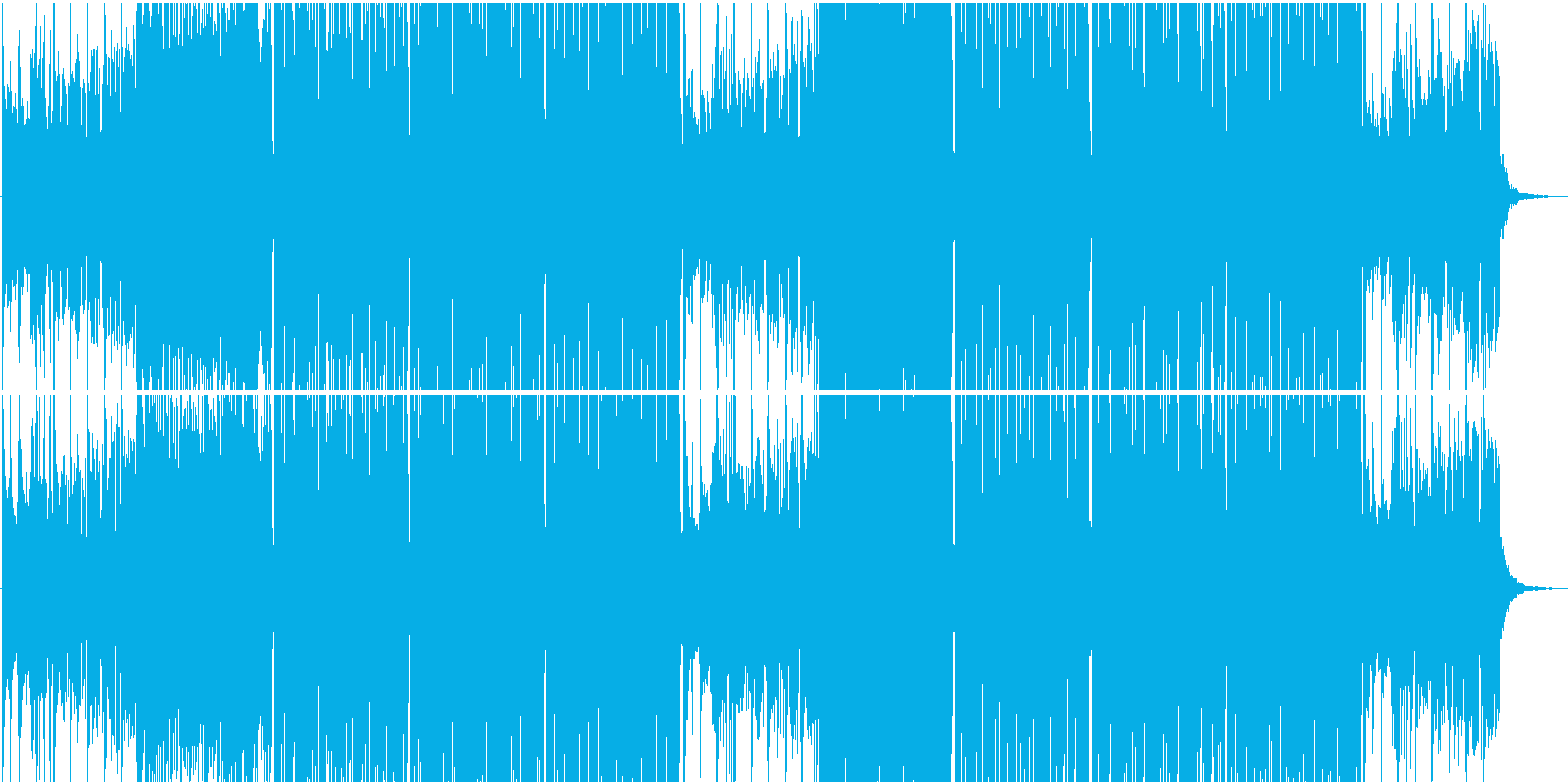 季節感のある和風 Future Bassの再生済みの波形