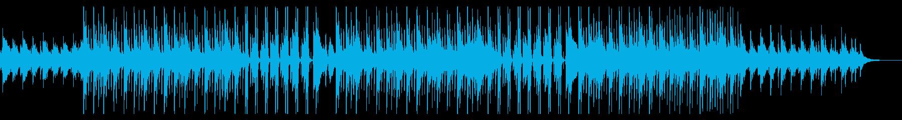 オープニングに!ピアノ中心の4つ打ち曲の再生済みの波形