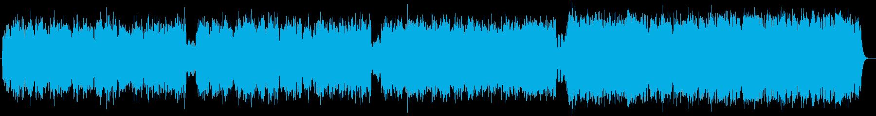 ゆったりとしたバラードポップスの再生済みの波形