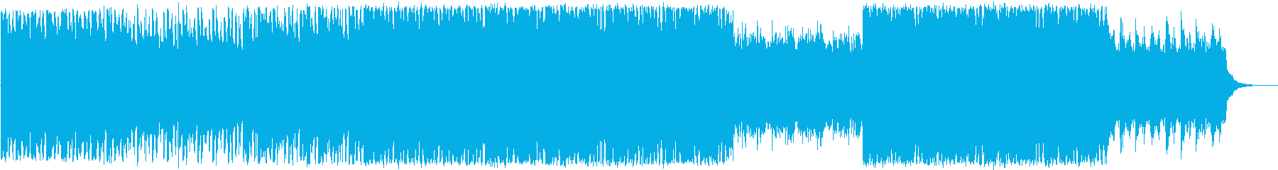 爽やかで清涼感のあるEDMの再生済みの波形