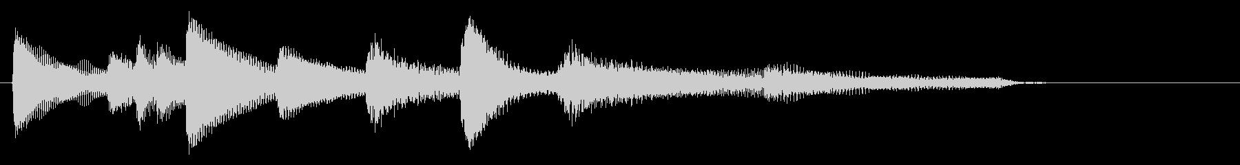 アジア風ピアノサウンドロゴ_ジングル4秒の未再生の波形