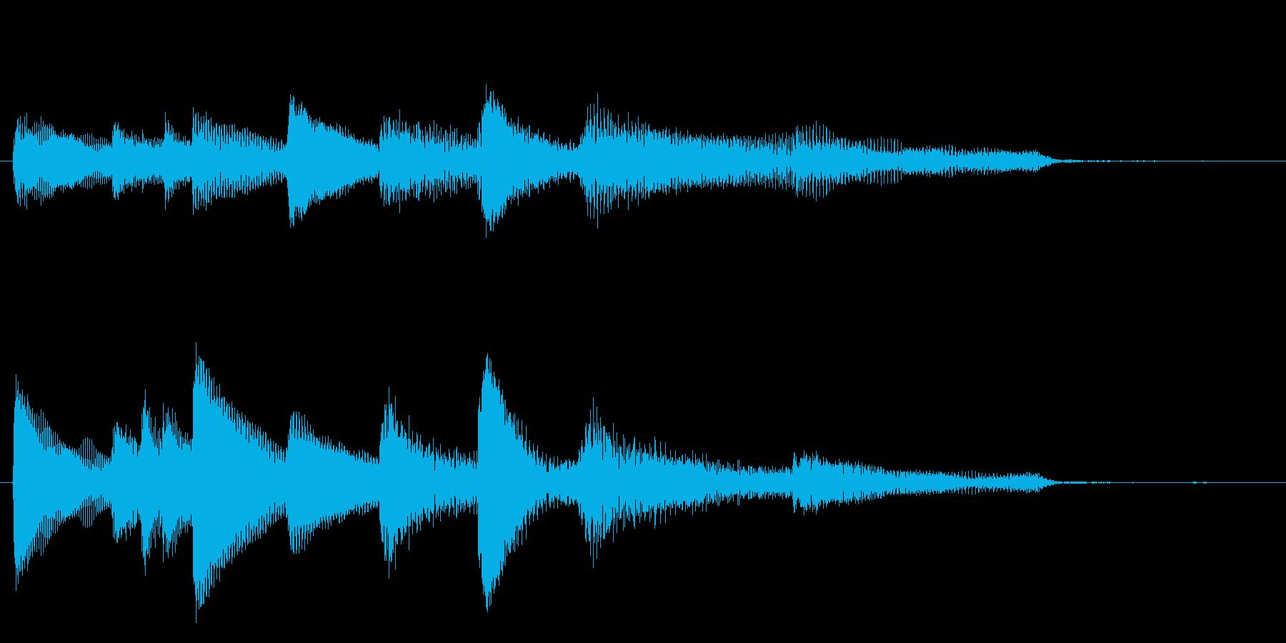 アジア風ピアノサウンドロゴ_ジングル4秒の再生済みの波形