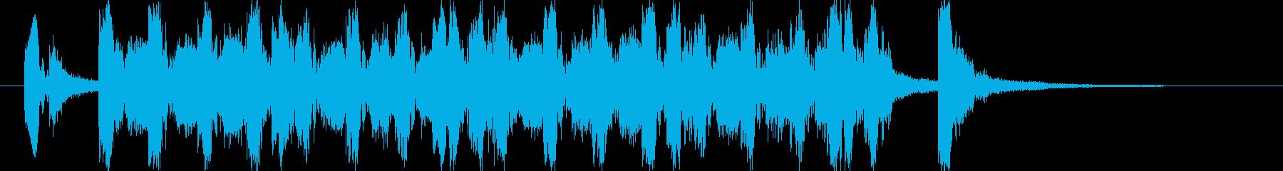 ポップな4つ打ち系ジングル(7秒版)の再生済みの波形
