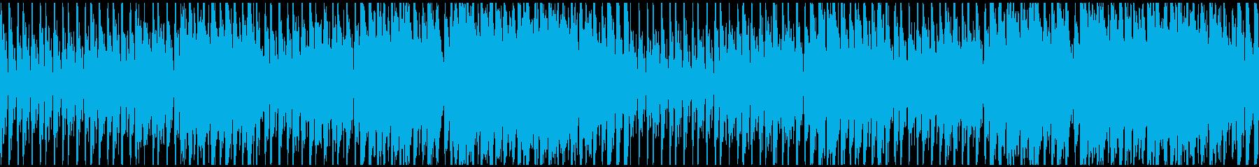 緊迫感のあるタンゴ調BGM ループ仕様の再生済みの波形