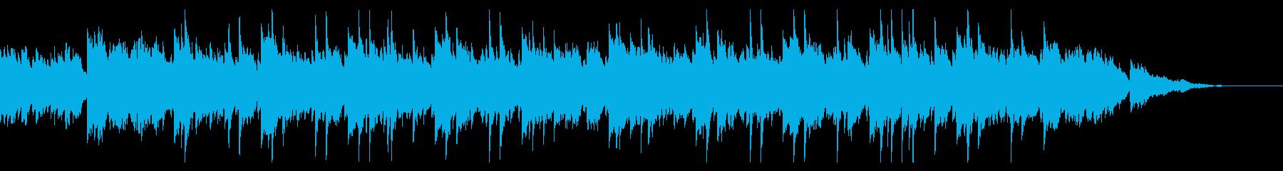 やさしいピアノストリングスの再生済みの波形