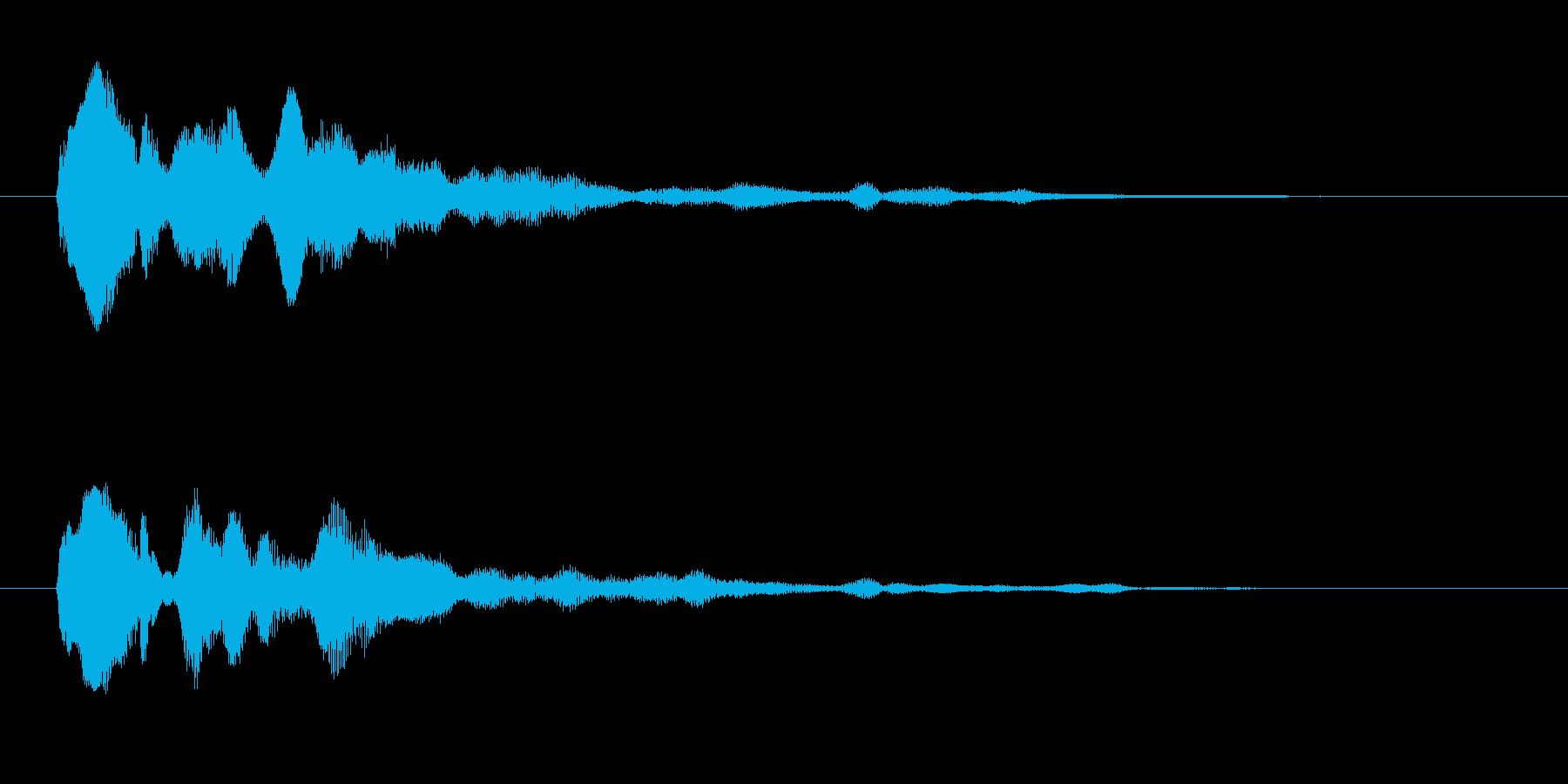 セレクト クールな決定音 通過 取得の再生済みの波形