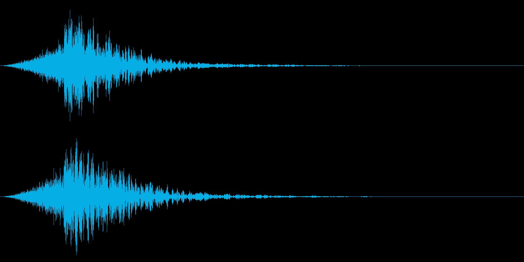 シュードーン-38-4(インパクト音)の再生済みの波形