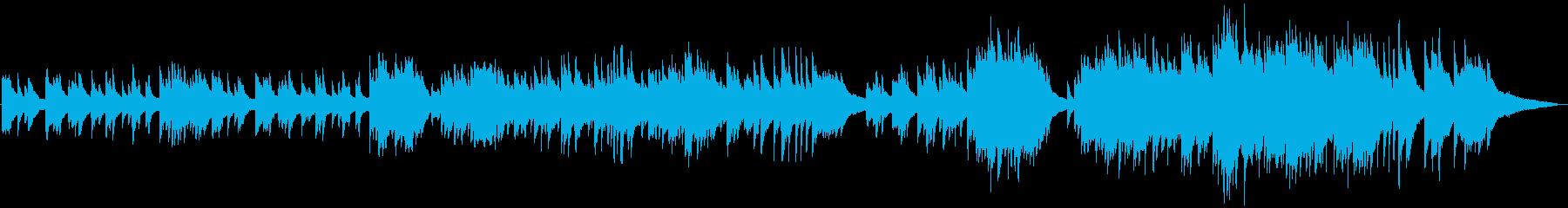 ほろ苦い大人の恋愛ピアノ曲の再生済みの波形