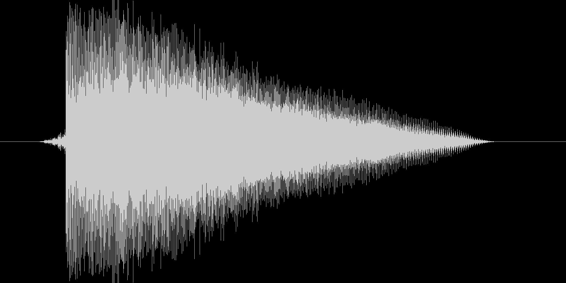 ゲーム(ファミコン風)レーザー音_001の未再生の波形