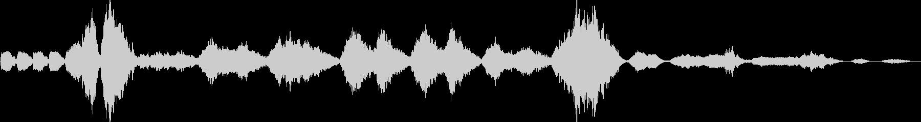 交響曲第9番「新世界より」第2楽章の未再生の波形
