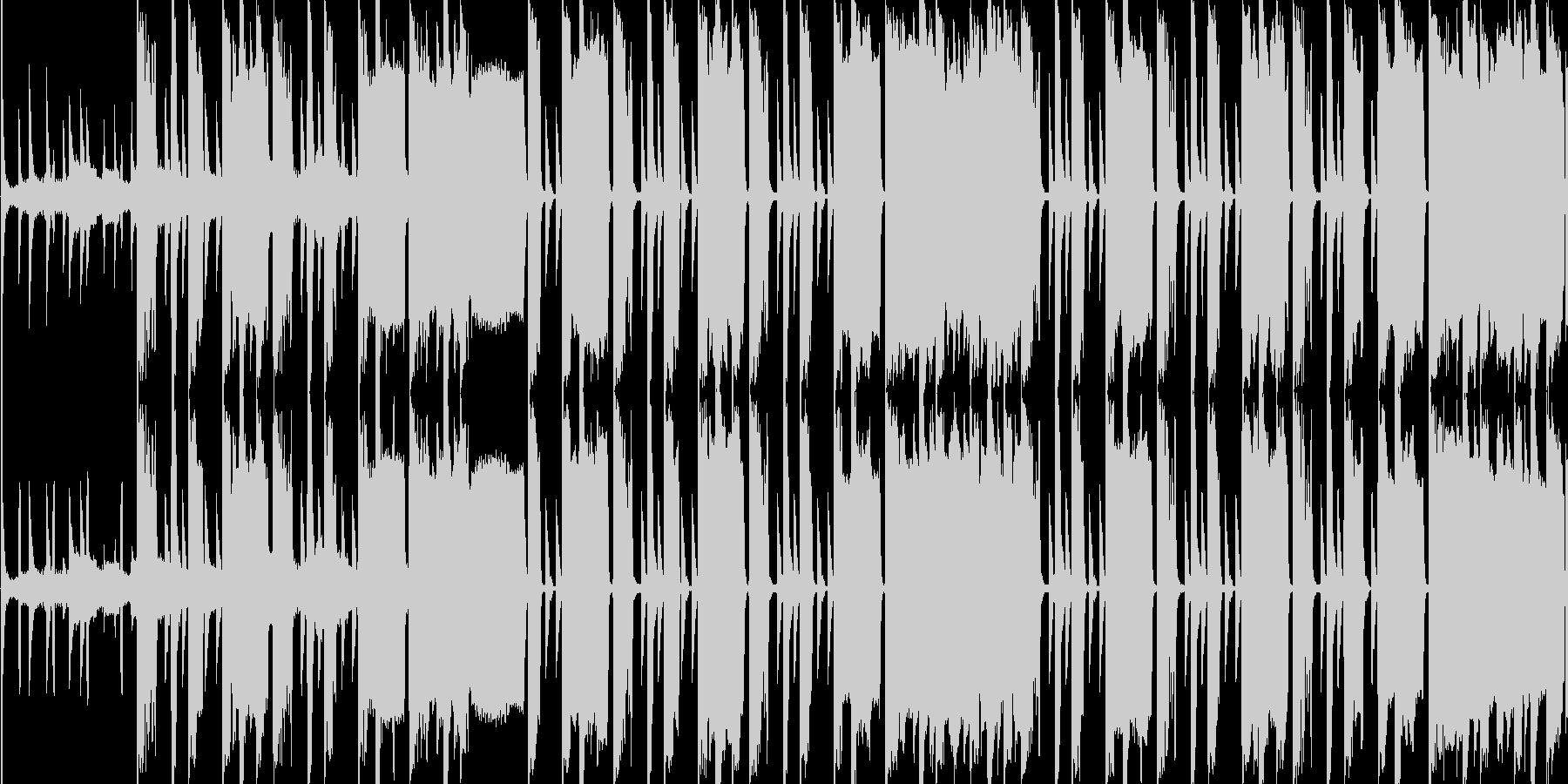 おしゃれな感じのヒップホップの未再生の波形