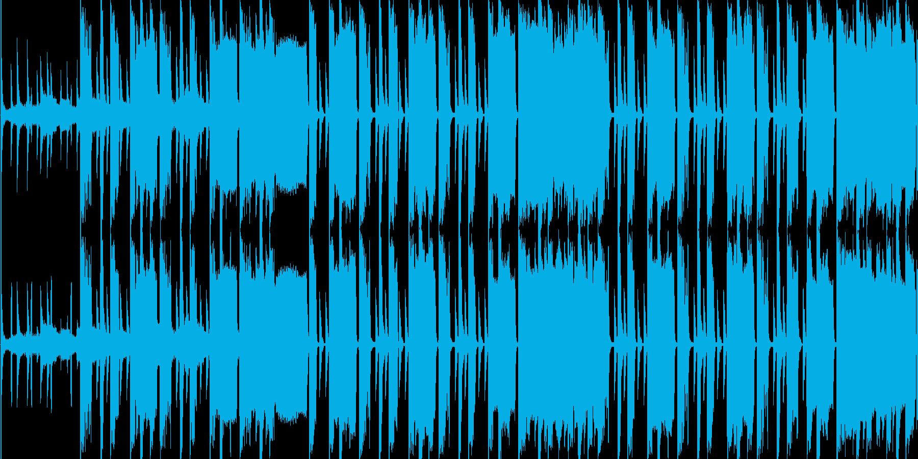 おしゃれな感じのヒップホップの再生済みの波形