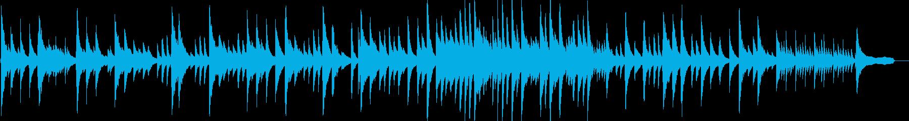 ピアニストに弾いてもらった穏やなバラードの再生済みの波形