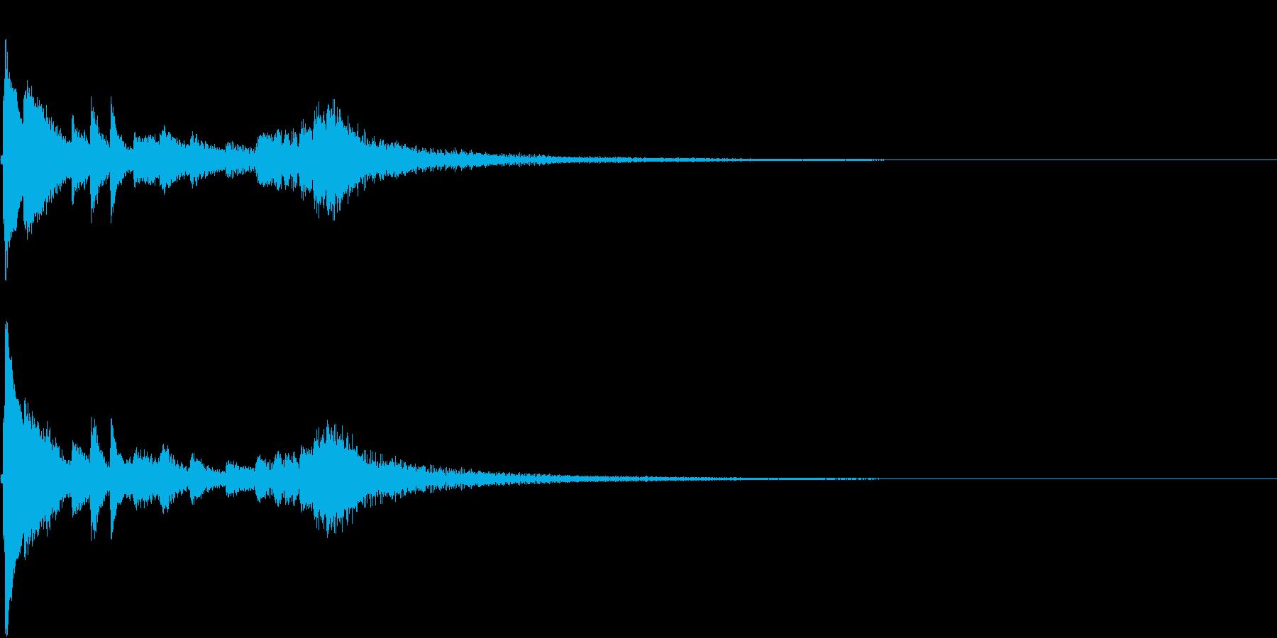 お正月 琴 和風 日本 和楽器 7の再生済みの波形